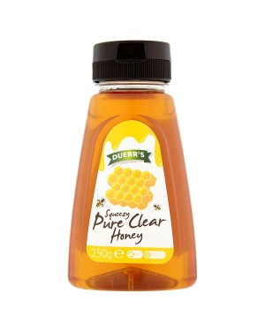 M3 Distribution Services Irish Food Wholesale Duerrs Squeezy Pure Clear Honey 250g