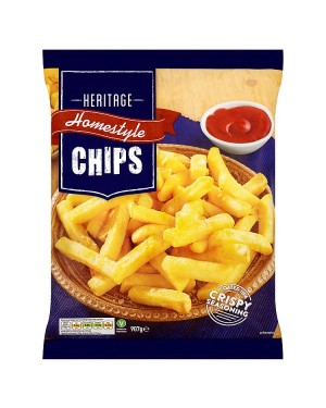 M3 Distribution Services Irish Food Wholesaler Heritage Homestyle Chips (12x907g)