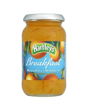 M3 Distribution Bulk Irish Wholesale Hartley's Breakfast Medium Cut Marmalade 454g