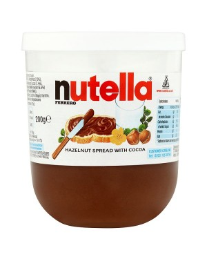 M3 Distribution Bulk Irish Wholesale Nutella Hazelnut Chocolate Spread 200g