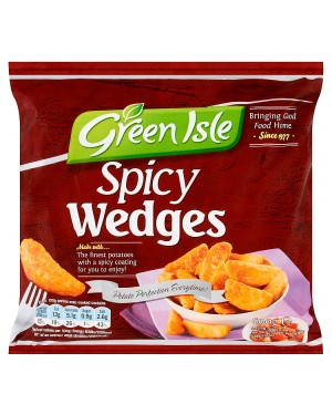 M3 Distribution Services Irish Food Wholesaler Green Isle Spicy Wedges (20x600g)