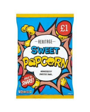 M3 Distribution Irish Wholesale Food Distributor Heritage Popcorn Sweet 100g PMÃ'ÂÃ
