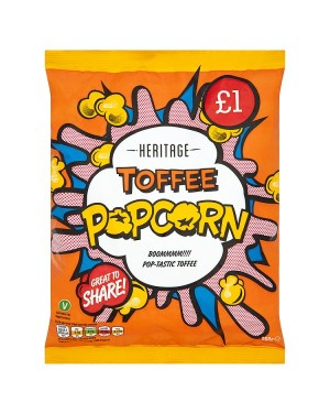 M3 Distribution Irish Wholesale Food Distributor Heritage Popcorn Toffee 200g PMÃ'Â