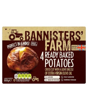 M3 Distribution Bannisters' Farm 4 Ready Baked Potatoes