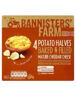 M3 Distribution Bannisters' Farm 4 Potato Halves - Mature Cheddar Cheese