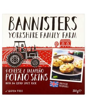 Bannisters Potato Skins Cheese & Jalapeno (12x4PK S)