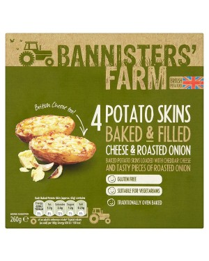 M3 Distribution Bannisters' Farm 4 Potato Skins - Cheese and Roasted Onion