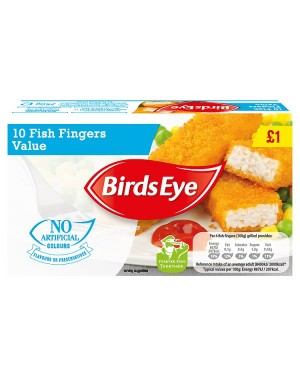 M3 Distribution Services Irish Food Wholesaler Birds Eye 10 Value Fish Fingers PM£1 (12x10pack)