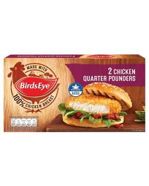 M3 Distribution Services Irish Food Wholesaler Birds Eye 2 Chicken Quarter Pounders (12x2pack)