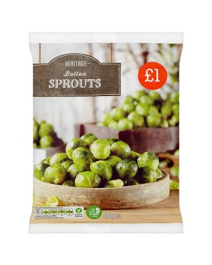 M3 Distribution Services Irish Food Wholesaler Heritage Button Sprouts PM£1 (12x500g)