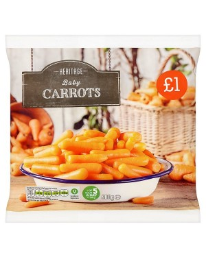 M3 Distribution Services Irish Food Wholesaler Heritage Baby Carrots PM£1 (12x500g)