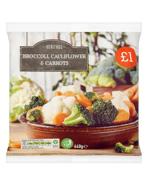 M3 Distribution Services Irish Food Wholesaler Heritage Carrots, Broccoli & Cauliflower PM£1 (8x640g)