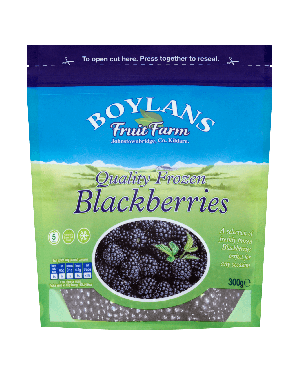 Boylans Quality Frozen Blackberries 500g Pouch