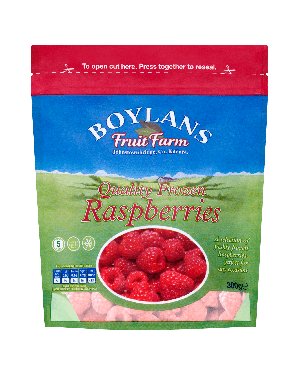 Boylans Quality Frozen Raspberries 500g Pouch
