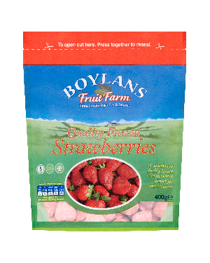 Boylans Quality Frozen Strawberries 500g Pouch